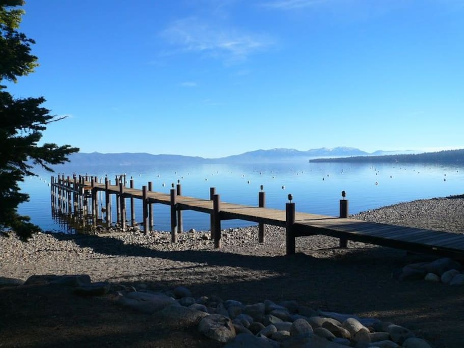 View of the Tahoe Swiss Village dock