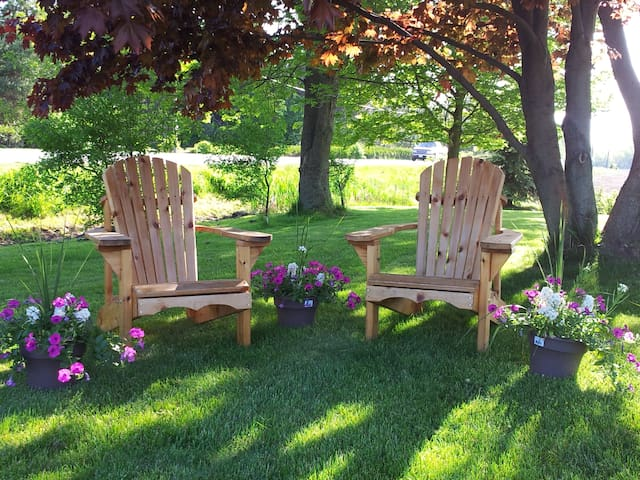 One acre property to relax and enjoy nature.
