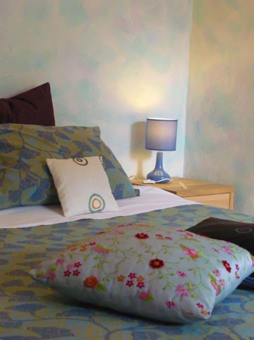 Il letto della camera Blu
