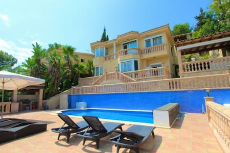 Sea view villa with luxury yacht - Costa d'en Blanes - Вилла