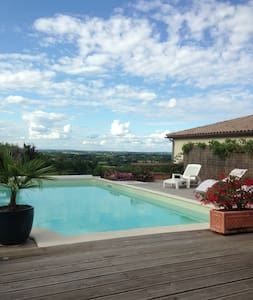 Villereal, charming B&B with pool - Villeréal - Inap sarapan