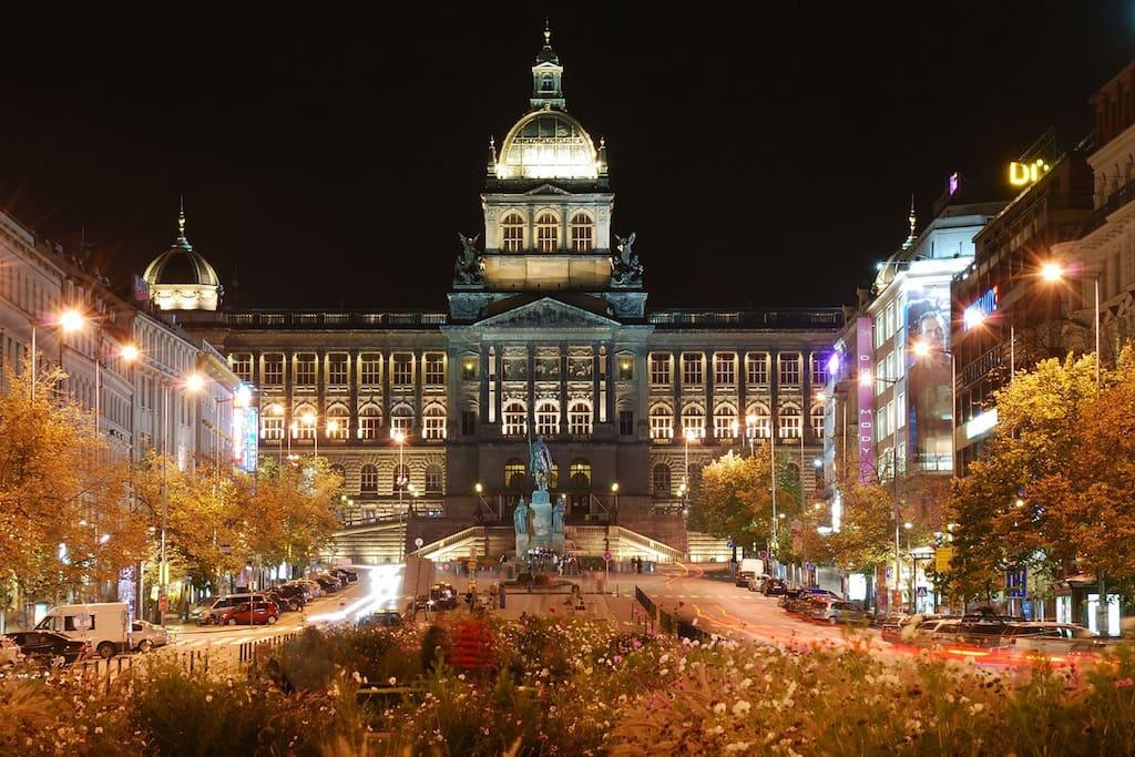 Magical night Wenceslas square