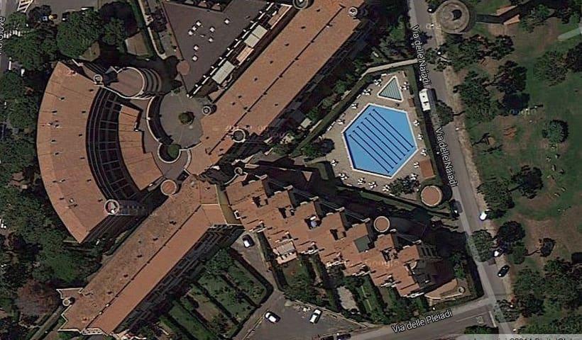 attico vista mare a 25 km da Roma - Marina di San Nicola - Apartmen