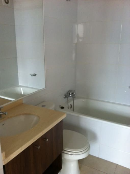 Brand new bathroom with shower