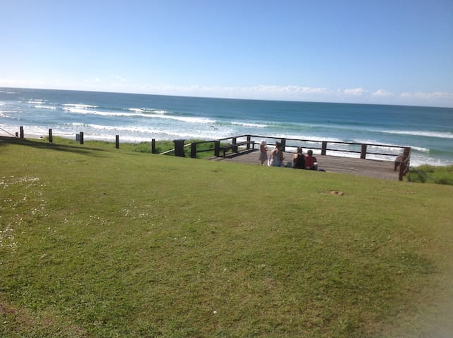 Bouganvillea is opposite this beach