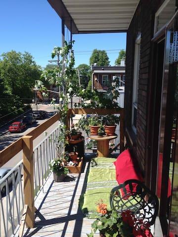 Balcon avant (été)