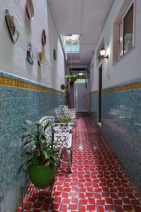 Pasillo hacia habitaciones