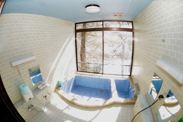 Bright bath room.