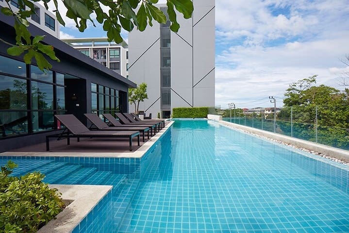 1BR Cozy Room/7Mins BTS/Near Shopping Malls - Bangkok - Apartament