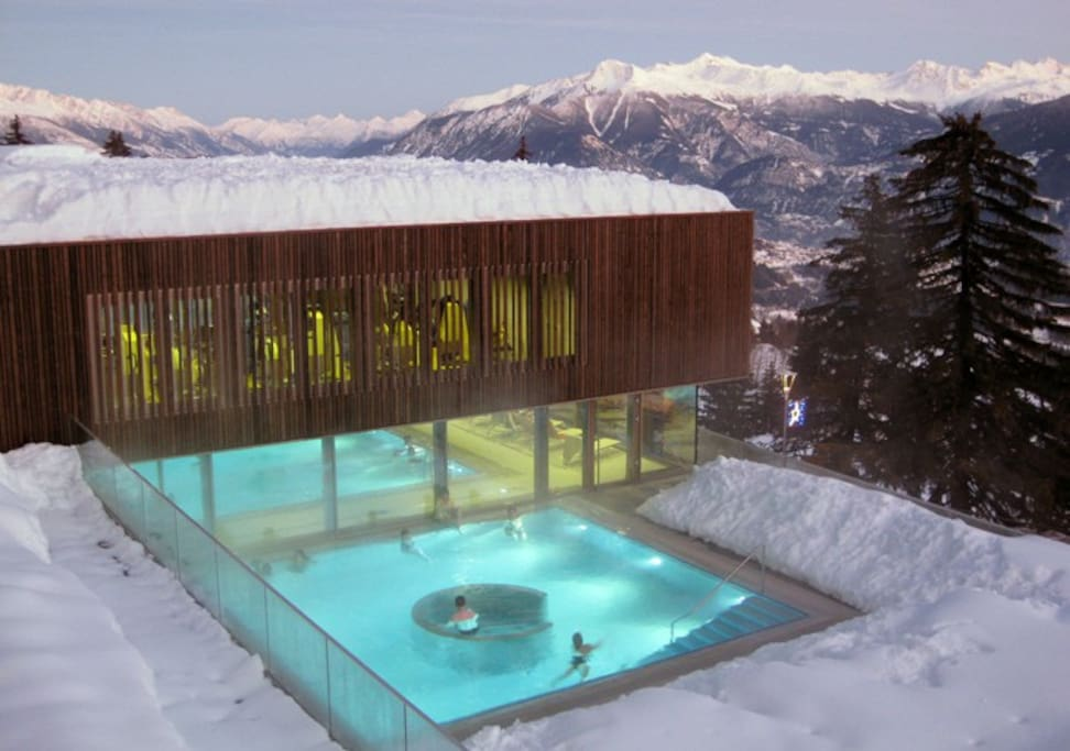 The chalet is at the bottom of the piste