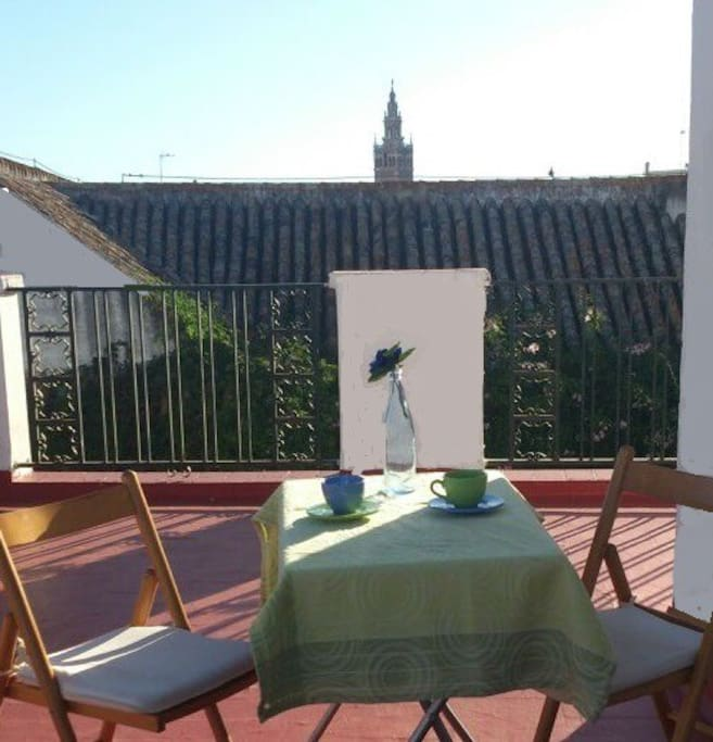 The wrap-around terrace offers several different views of the city and the two neighboring palaces - Medinacelli and Casa Imperial