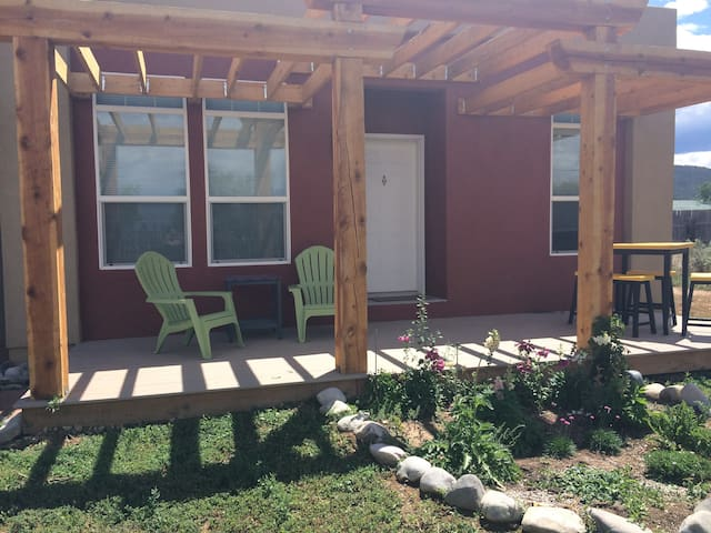 Enjoy the west porch for lovely mornings, bright and sunny afternoons, and perfect platform for nightly stargazing!