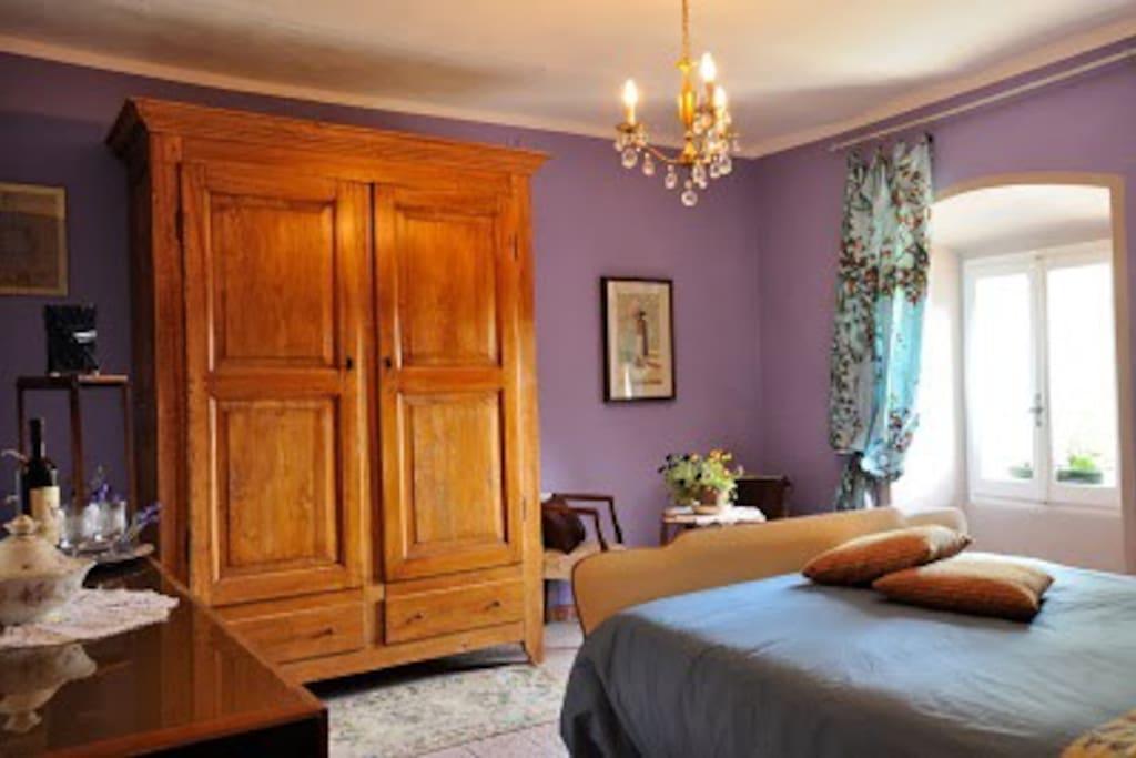 La camera da letto al primo piano