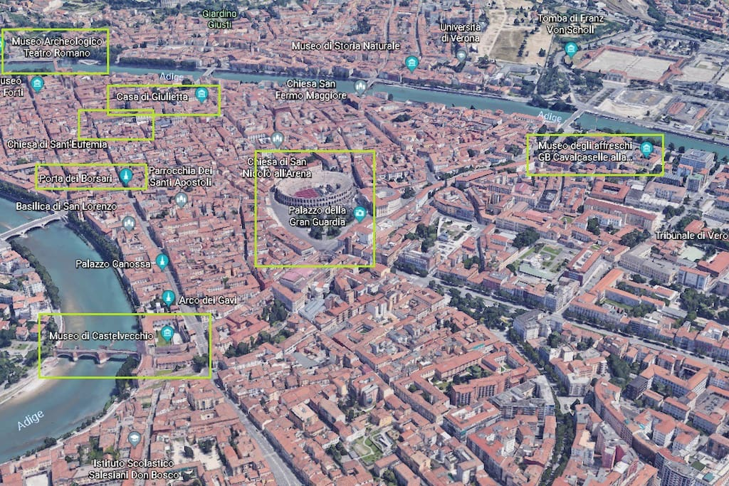 our position in Verona REAL 5 MINUTE FROM STATION AND CITY CENTER