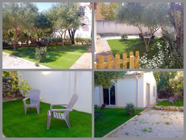 Studio lumineux avec jardin - Marignane - Rumah