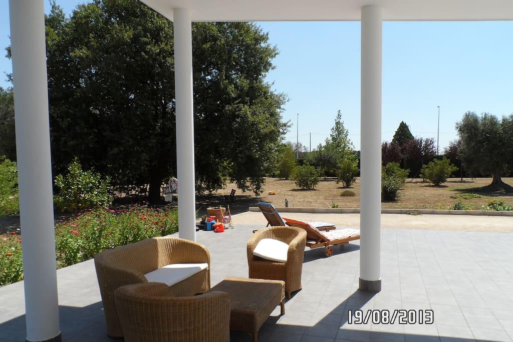 Ampia veranda di 60mq con solarium