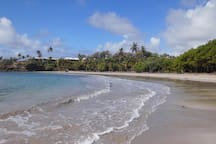 Beautiful secluded Cabier Beach