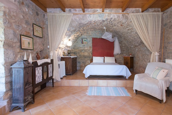 Traditional stone build private studio