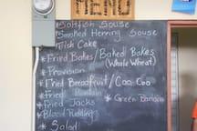 MT. Moritz Community Breakfast menu. Yum! Everyone welcome!