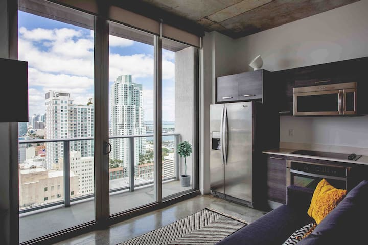 Miami Brickell Downtown, Luxurious Apt /Ocean View