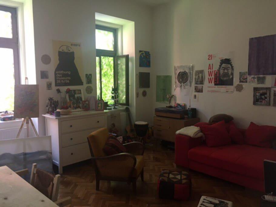 Wohnzimmer/Schlafzimmer zum Innenhof, Ruhige Lage