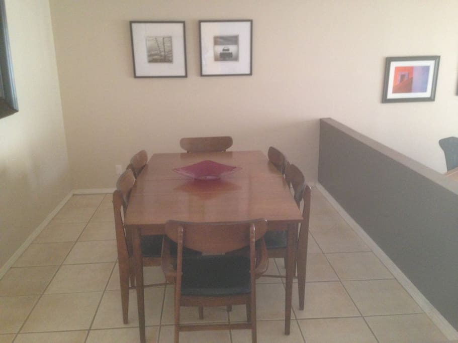 Separate dining room.
