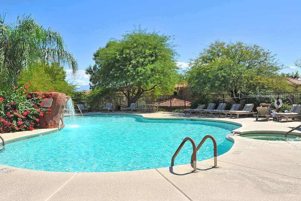 The apartment is adjacent to a heated pool, very short walking distance.