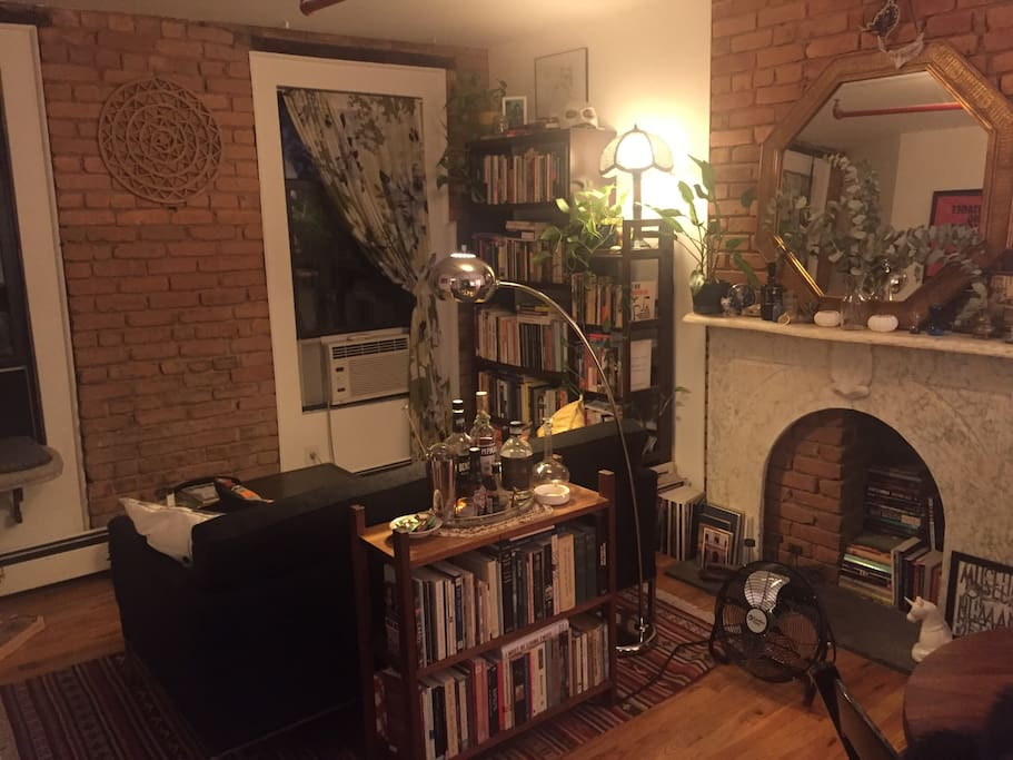 After comments that the apartment is smaller than the photos make it look, I'm adding this and the following photo so you can get a sense of the space. It's definitely cozy!