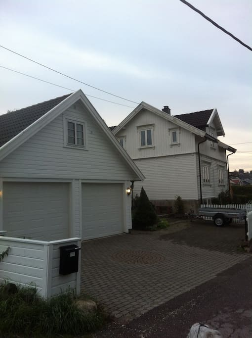 Loft over garasjen separat fra hovedhuset/loft in separate building