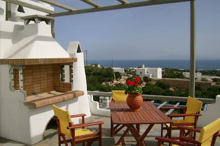 Double room available with sea view - Aspro Chorio