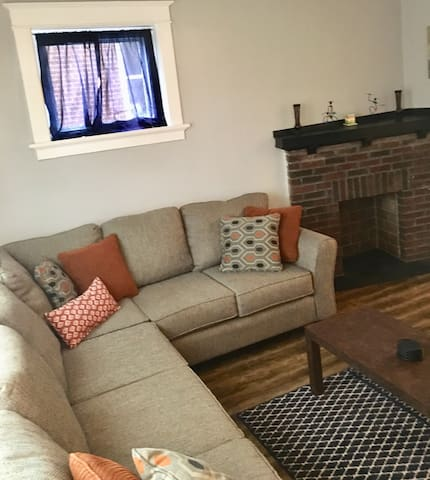 Modern space in Central location w/ parking!