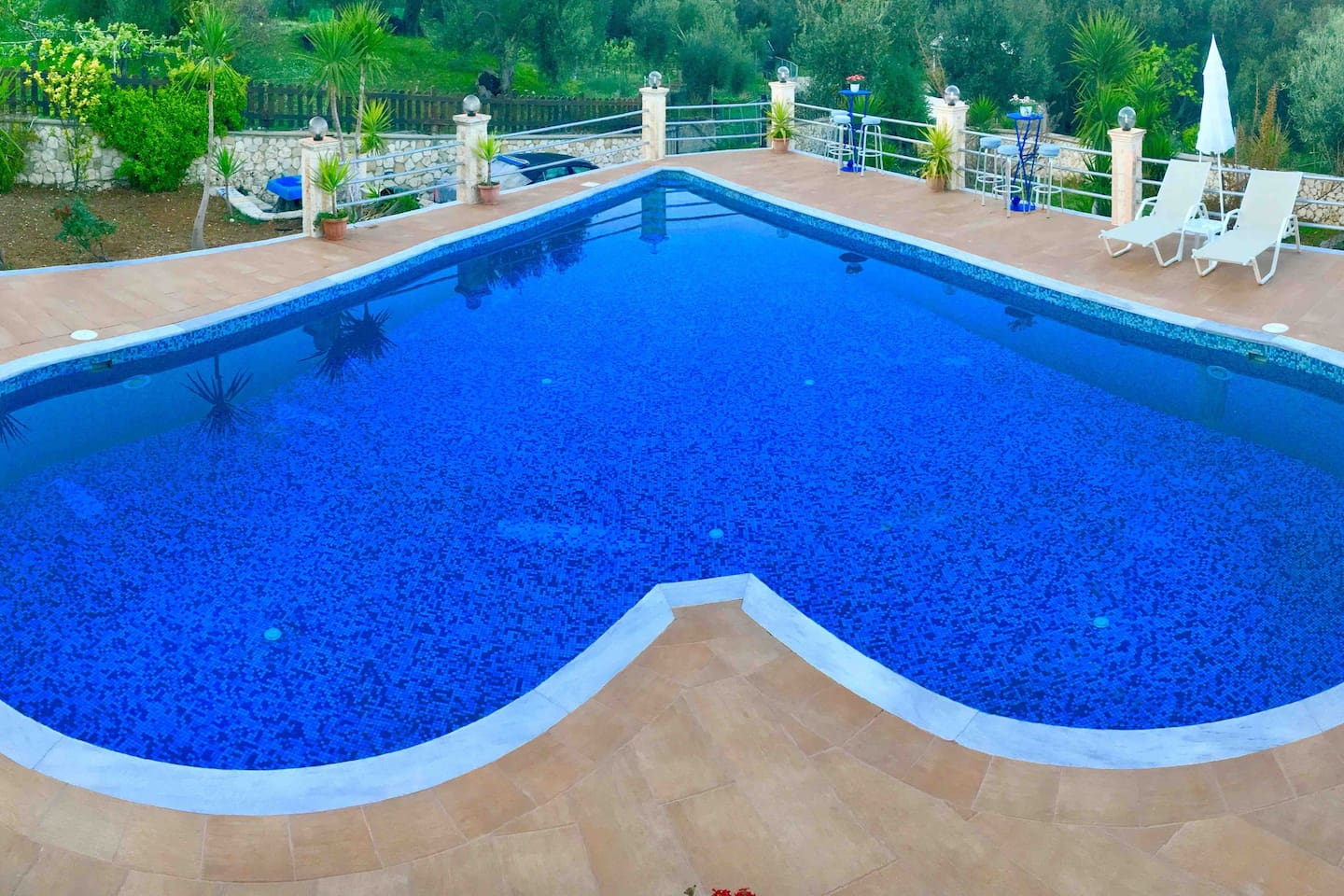 Panoramic view of the pool