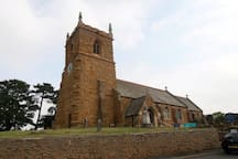 Village Saxon church, just over the road from the Old Rectory main house.