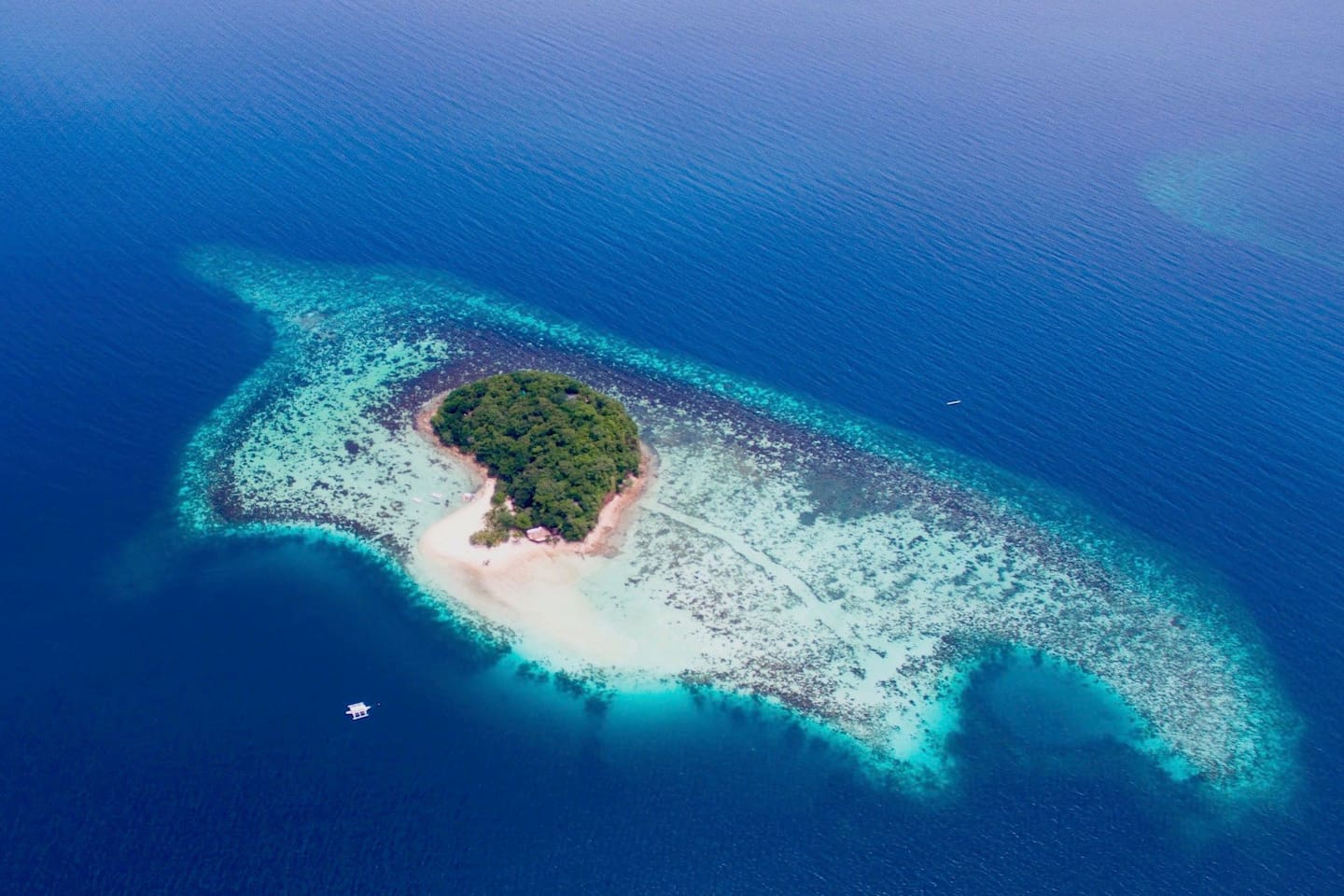 Bamboo Private Island from the sky