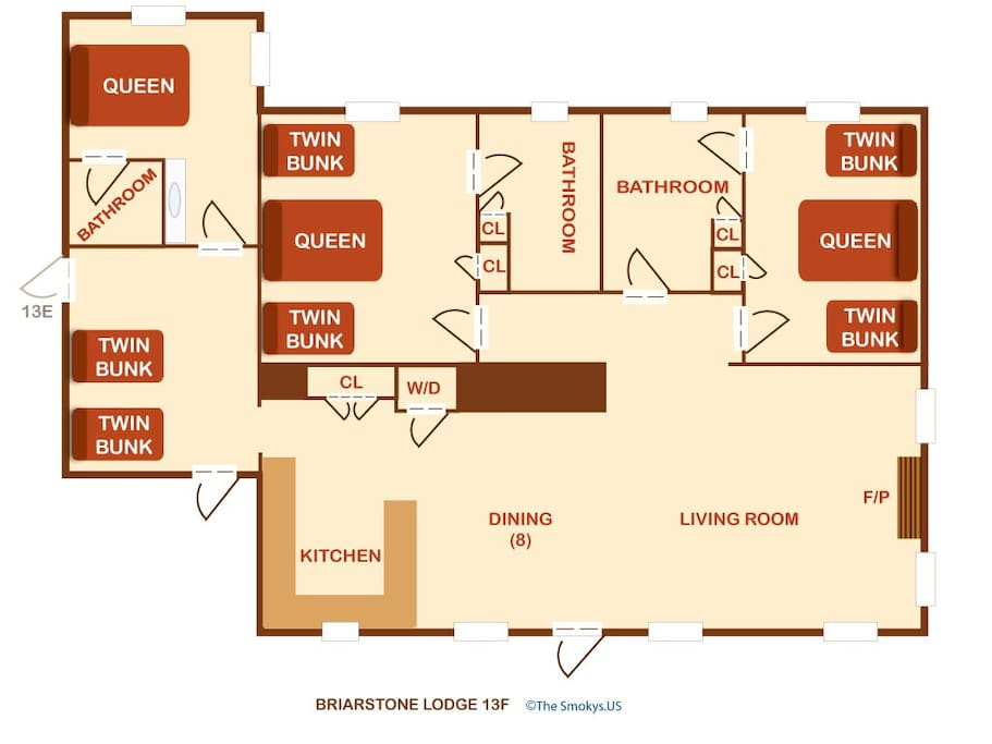Briarstone Lodge Condo 13F-Floor Plan