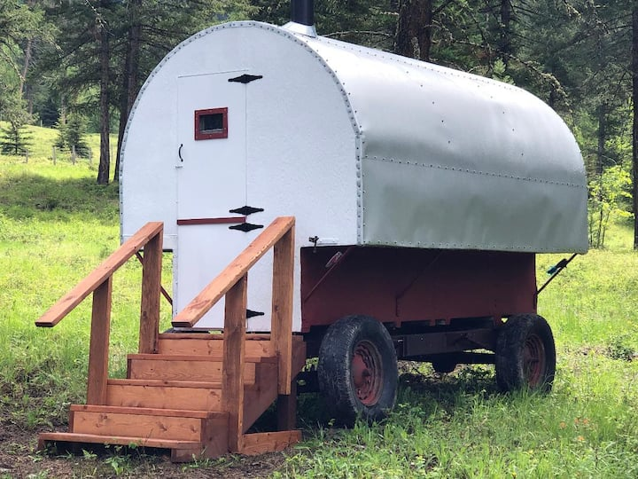 Authentic Sheepherder Wagon experience
