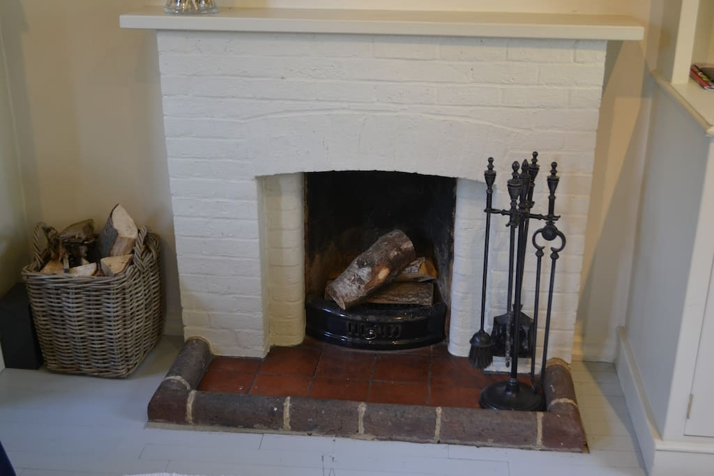 Log fire for cosy nights in