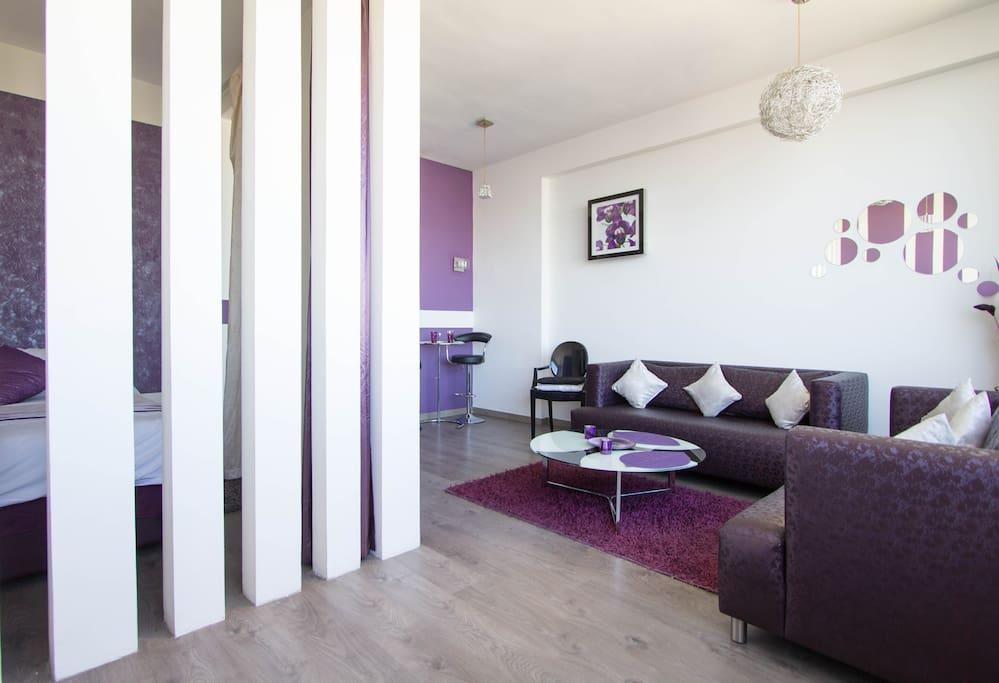 Séparation de la chambre depuis le séjour / Bedroom Separation from the living room
