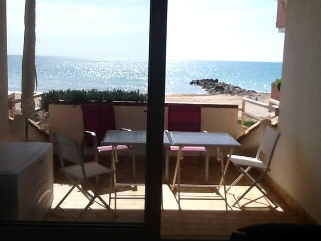 Appartement 4 pers, front de mer, piscine, parking - Frontignan - Byt