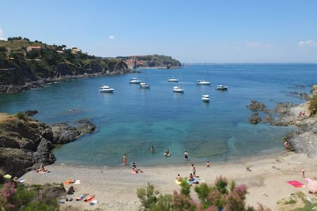 Collioure Beach Front Apt. with Parking Alosa