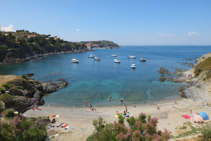 Collioure Beach Front Apt. with Parking! - Alosa