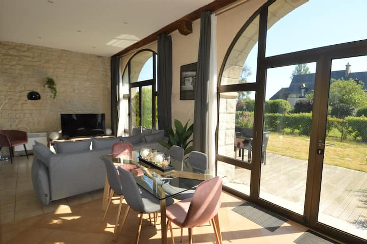 Bright flat ☀ with private garden - Omaha Beach