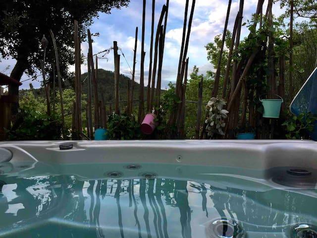 Bel appart calme ,terrasse,jacuzzi privatif