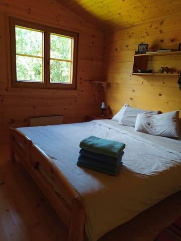 Chambre 1 avec lit L.180 cm