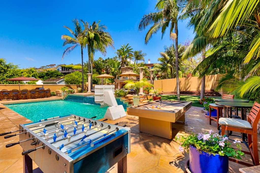 Spectacular back patio filled with everything you need to be together and have fun!
