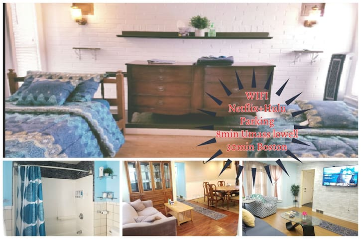 ★Lovely 1BR★Quiet,Parking|StudentsTravelers|Lowell