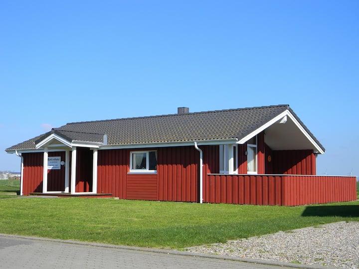 Scandinavian wooden house North Sea