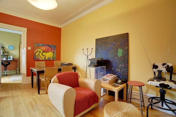 Bedroom Douillette Mont-Royal Metro - Montreal - Lakás