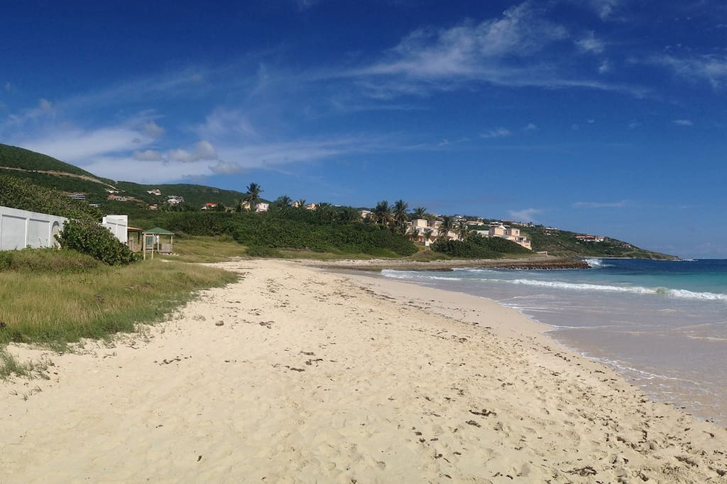 Guana Bay beach is just steps away from the villa!