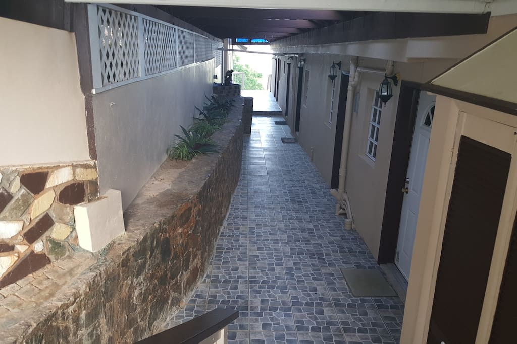 Upper Walkway leading to Apartments